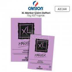 Canson XL Marker Çizim Defteri 70g 100 Yaprak - Thumbnail
