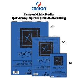Canson - Canson XL Mix Media Çok Amaçlı Spiralli Çizim Defteri 300g