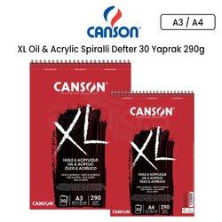 Canson XL Oil & Acrylic Spiralli Defter 30 Yaprak 290g - Thumbnail