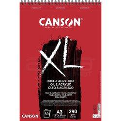 Canson - Canson XL Oil & Acrylic Spiralli Defter 30 Yaprak 290g (1)