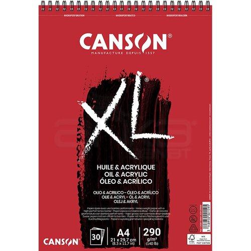 Canson XL Oil & Acrylic Spiralli Defter 30 Yaprak 290g