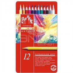 Caran dAche Supracolor Soft Aquarelle 12li Sulu Boya Kalem Seti - Thumbnail