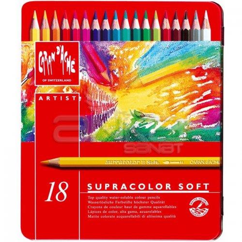 Caran dAche Supracolor Soft Aquarelle 18li Sulu Boya Kalem Seti
