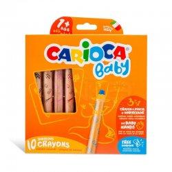 Carioca - Carioca Baby 3 in 1 Jumbo Ahşap Gövde Boya Kalemi 10lu 42818