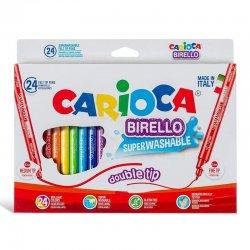 Carioca - Carioca Birello Süper Yıkabilir Çift Taraflı Keçeli Boya Kalemi 24lü 41521