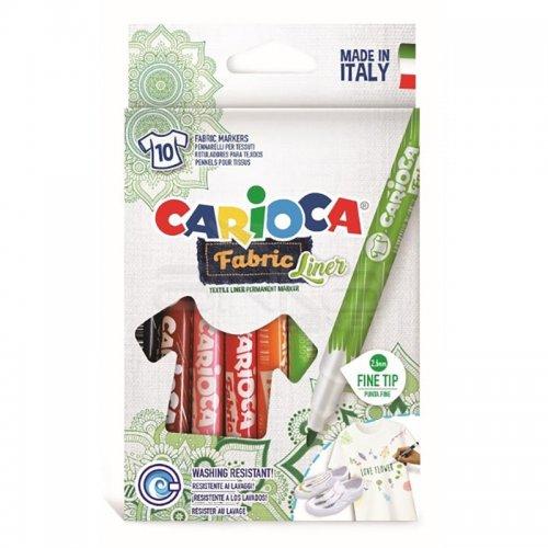 Carioca Cromatex Fabric Liner Tişört Kalemi 10lu 42909