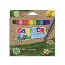 Carioca - Carioca Joy Süper Yıkanabilir Ekonomik Jumbo Keçeli Boya Kalemi 12li 43101