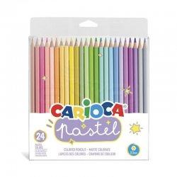 Carioca - Carioca Kuru Boya Kalemi 3.3mm Pastel Renkler 24lü 43310
