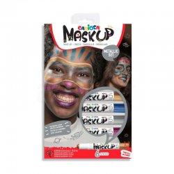 Carioca - Carioca Mask Up Yüz Boyası Seti Metalik Renkler 6g 6lı 43155