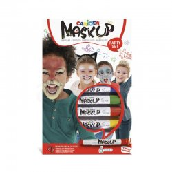 Carioca - Carioca Mask Up Yüz Boyası Seti Party Set 6g 6lı 43052