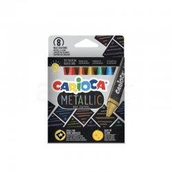 Carioca - Carioca Metallic Maxi Wax Crayons Yıkanabilir Pastel Boya 8li 43163