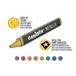Carioca - Carioca Metallic Maxi Wax Crayons Yıkanabilir Pastel Boya 8li 43163 (1)