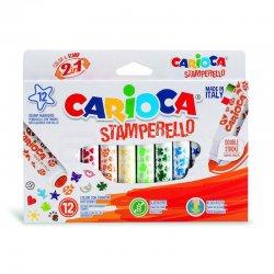 Carioca - Carioca Stamperello Damga ve Keçeli Kalem Seti 12 Renk 42240