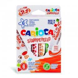 Carioca - Carioca Stamperello Damga ve Keçeli Kalem Seti 6 Renk 42279