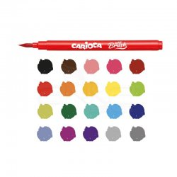 Carioca - Carioca Süper Brush Fırça Uçlu Keçeli Kalem Seti 20 Renk 42968 (1)