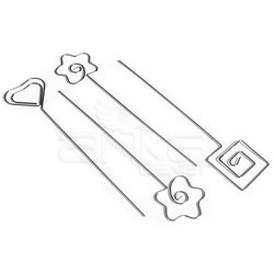 Cernit - Cernit Metal Desen Kalıbı 4 Farklı Model (1)