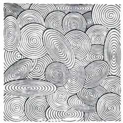 Cernit - Cernit Silikon Desen Kalıbı 9x9cm Spirals 95012 (1)