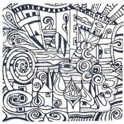 Cernit - Cernit Silikon Desen Kalıbı 9x9cm Village 95007 (1)