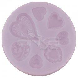 Cernit - Cernit Silikon Polimer Kil Kalıbı Kalpler 95104 (1)