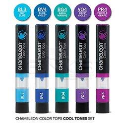 Chameleon - Chameleon Color Tops Marker Kalem 5li Set Cool Tones (1)