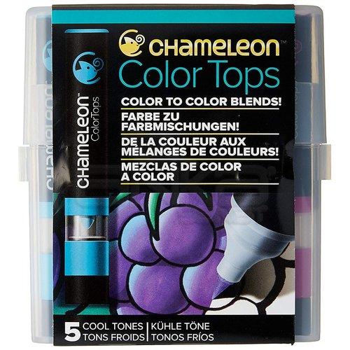 Chameleon Color Tops Marker Kalem 5li Set Cool Tones