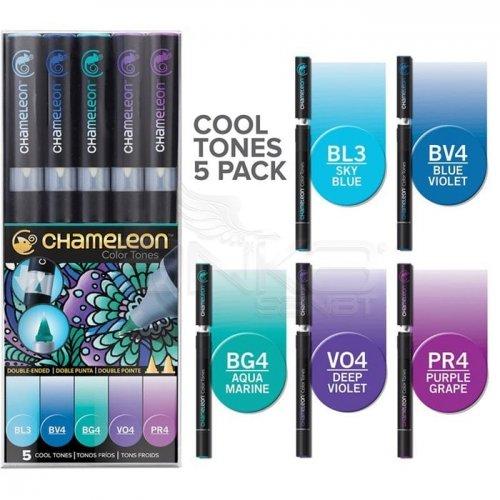 Chameleon Marker Kalem 5li Set Cool Tones