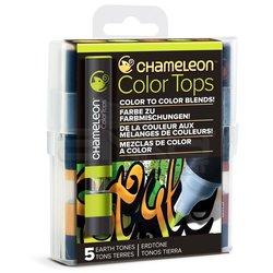 Chameleon - Chameleon Color Tops Marker Kalem 5li Set Earth Tones