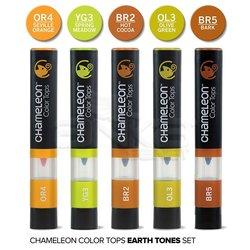 Chameleon - Chameleon Color Tops Marker Kalem 5li Set Earth Tones (1)
