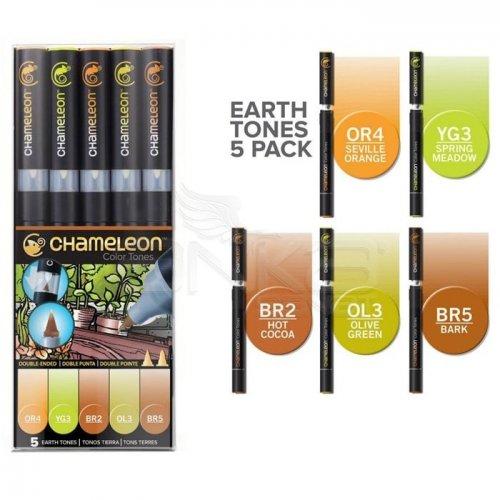 Chameleon Marker Kalem 5li Set Earth Tones