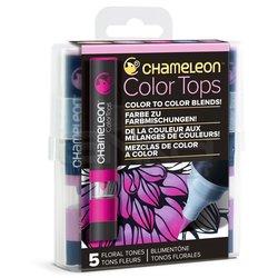 Chameleon - Chameleon Color Tops Marker Kalem 5li Set Floral Tones