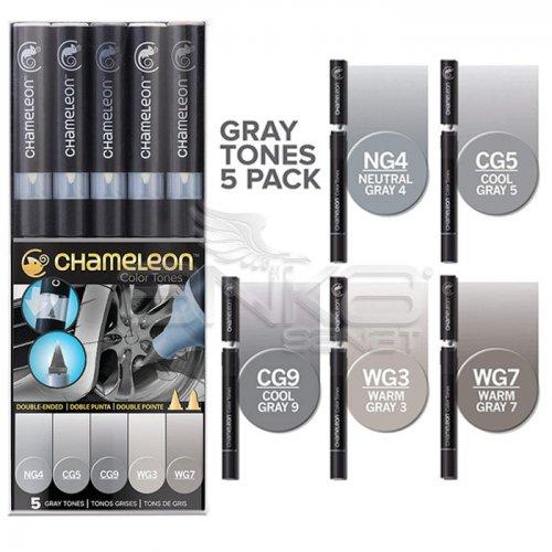 Chameleon Marker Kalem 5li Set Gray Tones