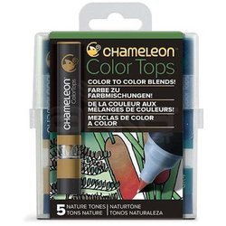 Chameleon - Chameleon Color Tops Marker Kalem 5li Set Nature Tones
