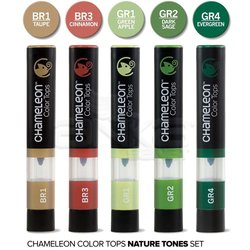 Chameleon - Chameleon Color Tops Marker Kalem 5li Set Nature Tones (1)
