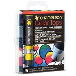 Chameleon - Chameleon Color Tops Marker Kalem 5li Set Prınary Tones