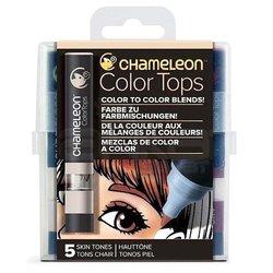 Chameleon - Chameleon Color Tops Marker Kalem 5li Set Skın Tones