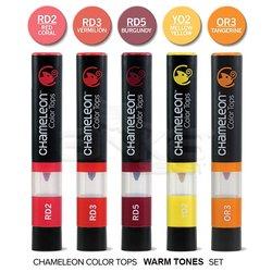 Chameleon - Chameleon Color Tops Marker Kalem 5li Set Warm Tones (1)