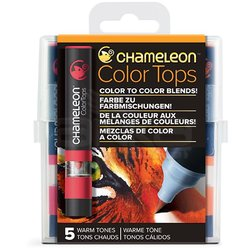 Chameleon Color Tops Marker Kalem 5li Set Warm Tones - Thumbnail