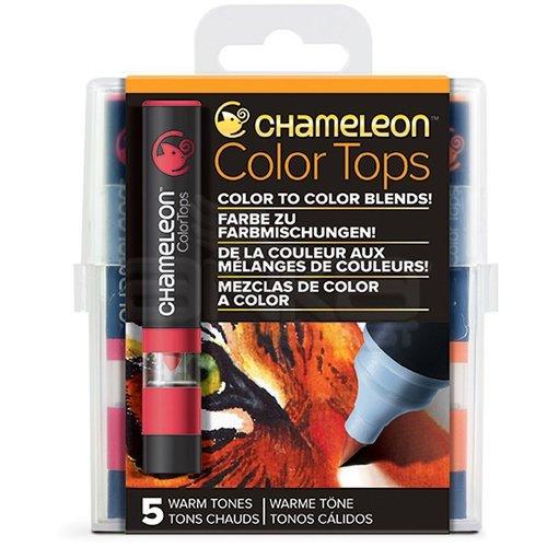 Chameleon Color Tops Marker Kalem 5li Set Warm Tones