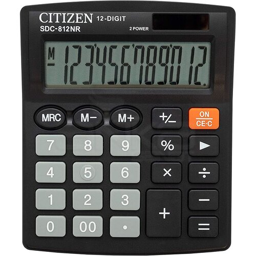 Citizen Hesap Hakinesi Siyah SDC-812NR