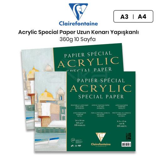 Clairefontaine Acrylic Special Paper Akrilik Blok Uzun Kenarı Yapışkanlı 360g 10 Yaprak