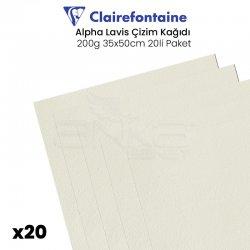 Clairefontaine - Clairefontaine Alpha Lavis Çizim Kağıdı 200g 35x50cm 20li Paket