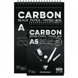 Clairefontaine - Clairefontaine Carbon Black Paper Üstten Spiralli 120g 20 Yaprak (1)