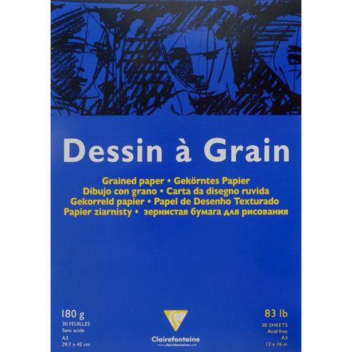 Clairefontaine Dessin a Grain İnce Dokulu Çizim Bloğu 180g 30 Yaprak