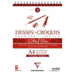 Clairefontaine - Clairefontaine Dessin Croquis Çizim Defteri 120g 50 Yaprak (1)