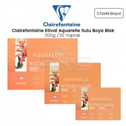 Clairefontaine - Clairefontaine Etival Cold Pressed Sulu Boya Blok 30 Yaprak 300g