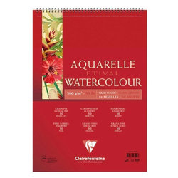 Clairefontaine - Clairefontaine Etival Grain Classic Spiralli Sulu Boya Blok 30 Yaprak 200g (1)