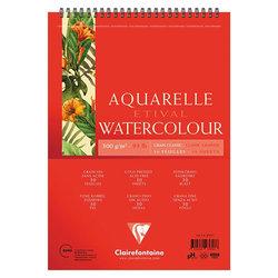 Clairefontaine - Clairefontaine Etival Grain Classic Spiralli Sulu Boya Blok 30 Yaprak 300g (1)