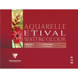 Clairefontaine Etival Grain Classic Yapışkanlı Sulu Boya Blok 30 Yaprak 200g - Thumbnail