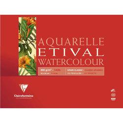 Clairefontaine - Clairefontaine Etival Grain Classic Yapışkanlı Sulu Boya Blok 30 Yaprak 300g (1)