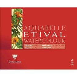 Clairefontaine Etival Grain Classic Yapışkanlı Sulu Boya Blok 30 Yaprak 300g - Thumbnail